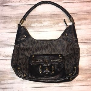🖤🍁Michael Kors Leather Shoulder Bag Fall Cute